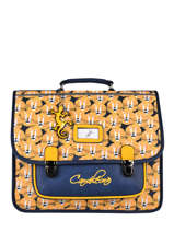 Satchel For Kids 2 Compartments Cameleon Yellow retro CA38
