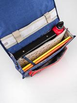 Satchel For Kids 1 Compartment Cameleon Blue retro CA32-vue-porte
