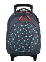 Wheeled Backpack For Kids 2 Compartments Cameleon Blue actual SR43