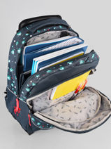 Wheeled Backpack For Kids 2 Compartments Cameleon Blue actual SR43-vue-porte