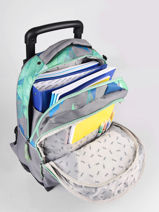 Wheeled Backpack For Kids 2 Compartments Cameleon Gray actual SR43-vue-porte