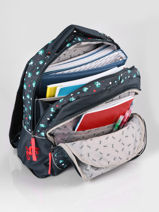 Backpack For Kids 2 Compartments Cameleon Blue actual SD43-vue-porte