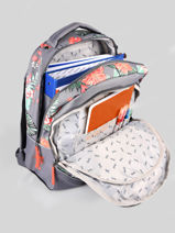 Backpack For Kids 2 Compartments Cameleon Gray actual SD43-vue-porte