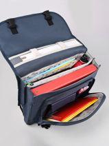 Satchel For Kids 2 Compartments Cameleon Blue actual CA38-vue-porte
