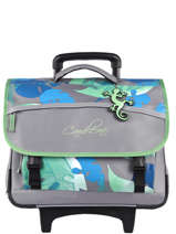 Wheeled Schoolbag For Kids 3 Compartments Cameleon Gray actual CR41