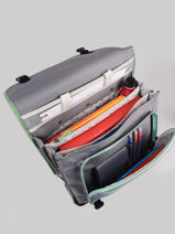 Wheeled Schoolbag For Kids 3 Compartments Cameleon Gray actual CR41-vue-porte