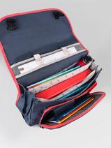 Satchel For Kids 3 Compartments Cameleon Blue actual CA41-vue-porte