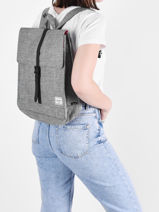 Backpack Herschel Gray classics 10486-vue-porte