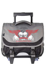 Wheeled Schoolbag 2 Compartments Snowball Gray legend 75838R