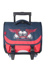 Wheeled Schoolbag 2 Compartments Snowball Blue legend 75838R
