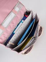Satchel For Girls 3 Compartments Cameleon Pink vintage fantasy CA41-vue-porte