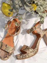 Leather jayn sandals with block heel-MAM