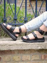 Sandales semelle compensee en cuir-MJUS