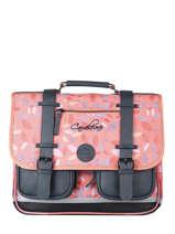 Satchel For Girl 2 Compartments Cameleon Pink vintage fantasy CA38