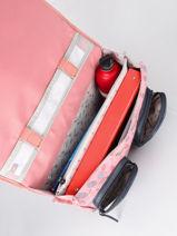Satchel For Girl 2 Compartments Cameleon Pink vintage fantasy CA38-vue-porte
