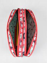 Pencil Case For Girls 2 Compartments Cameleon Multicolor vintage fantasy TROU-vue-porte