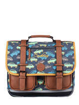 Satchel For Boys 2 Compartments Cameleon Multicolor vintage urban CA38