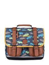 Satchel For Boys 2 Compartments Cameleon Multicolor vintage urban CA35