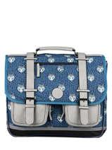 Satchel For Boys 3 Compartments Cameleon Blue vintage urban CA41