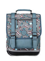 Backpack For Boys 2 Compartments Cameleon Gray vintage urban SD38