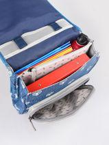 Backpack For Boys 2 Compartments Cameleon Blue vintage urban SD38-vue-porte