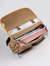 Satchel For Boys 2 Compartments Cameleon Yellow vintage urban CA38-vue-porte