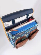 Wheeled Schoolbag For Boys 2 Compartments Cameleon Multicolor vintage urban CR38-vue-porte