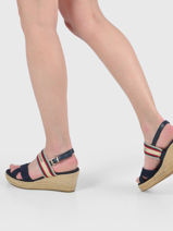 Low wedge sandals artisan-TOMMY HILFIGER-vue-porte
