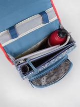 Backpack For Girls 2 Compartments Cameleon Blue vintage fantasy SD38-vue-porte