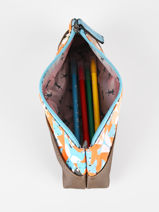 Pencil Case For Kids 1 Compartment Cameleon Multicolor retro TROU-vue-porte
