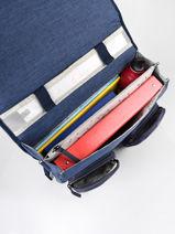 Satchel 2 Compartments Cameleon Blue vintage color CA38-vue-porte
