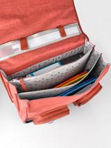 Satchel 3 Compartments Cameleon Red vintage color VIC-CA41-vue-porte