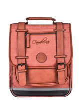 Backpack 2 Compartments Cameleon Red vintage color VIC-SD38