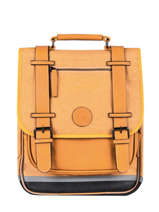 Backpack 2 Compartments Cameleon Yellow vintage color VIC-SD38
