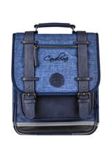 Backpack 2 Compartments Cameleon Blue vintage color VIC-SD38