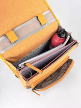 Backpack 2 Compartments Cameleon Yellow vintage color VIC-SD38-vue-porte