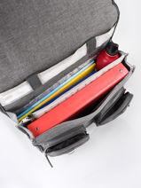 Wheeled Schoolbag 3 Compartments Cameleon Gray vintage color CR38-vue-porte