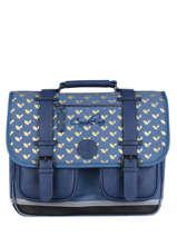 Satchel For Girl 2 Compartments Cameleon Blue vintage fantasy CA38