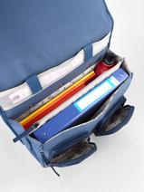 Wheeled Schoolbag For Girls 2 Compartments Cameleon Blue vintage fantasy CR38-vue-porte