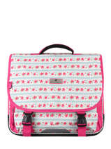 Cartable 2 Compartiments Snowball Rose print 85141
