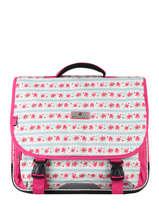 Satchel 2 Compartments Snowball Pink print 85141