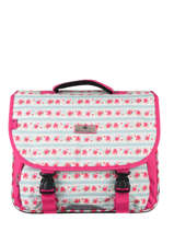 Satchel 2 Compartments Snowball Pink print 85138