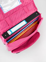 Satchel 2 Compartments Snowball Pink print 85138-vue-porte