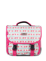 Cartable 2 Compartiments Snowball Rose print 85135