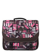Satchel 2 Compartments Snowball Brown print 65841