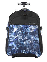 Wheeled Backpack 2 Compartments Snowball Black street F58045