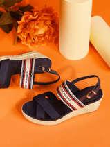 Sandales talon compensé artisanal-TOMMY HILFIGER