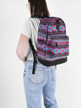 Backpack 1 Compartment Snowball Multicolor street F65842-vue-porte