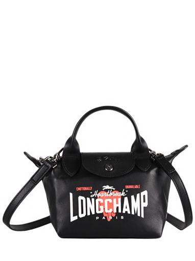 Longchamp Cascading logo Handbag Black