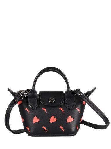 Longchamp Cascading logo Messenger bag Black